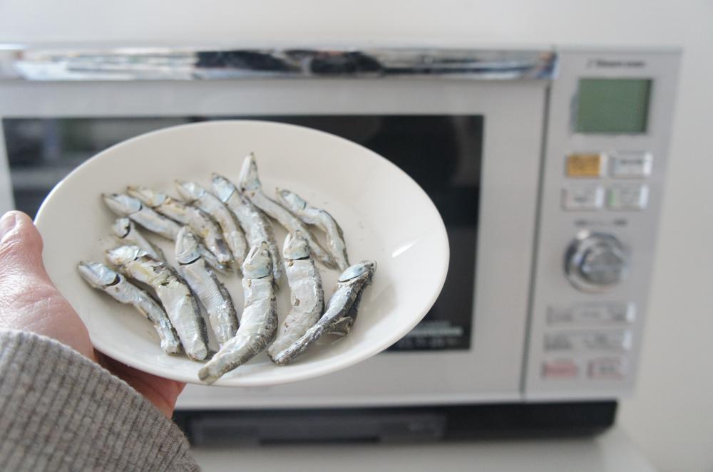 レンジで簡単!食べる煮干し