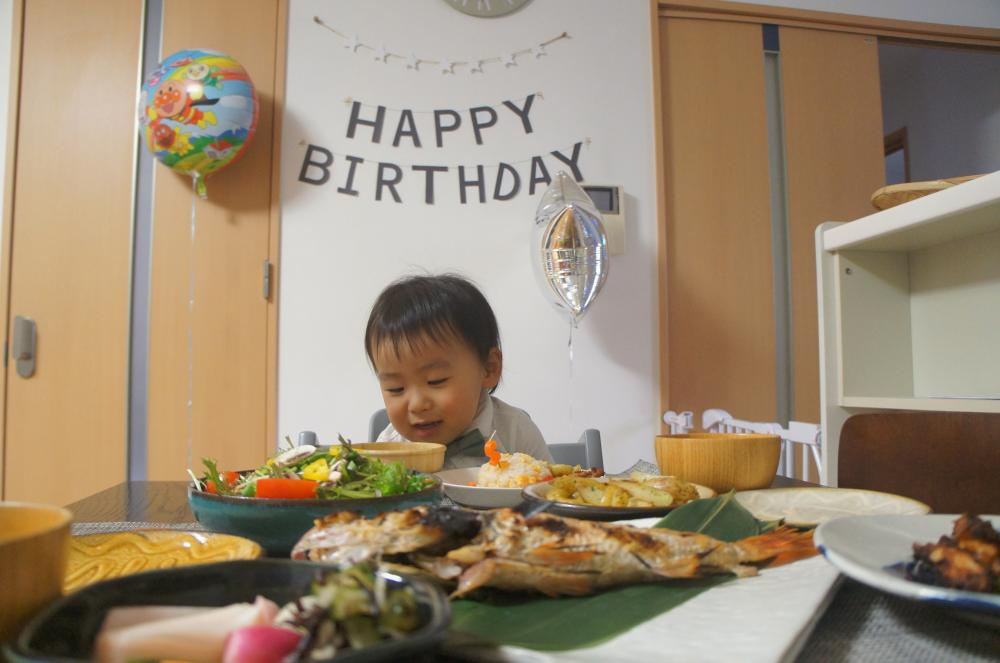 息子、2歳になりました&2歳誕生日の食事
